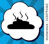 simple poop sign illustration.... | Shutterstock .eps vector #1134791462