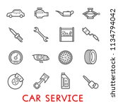 car service and auto repair...   Shutterstock .eps vector #1134794042
