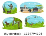 hunting sport icon with hunter... | Shutterstock .eps vector #1134794105