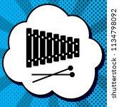xylophone sign. vector. black... | Shutterstock .eps vector #1134798092