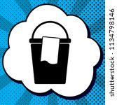 bucket and a rag sign. vector....   Shutterstock .eps vector #1134798146