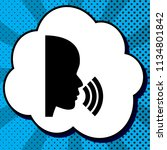people speaking or singing sign.... | Shutterstock .eps vector #1134801842