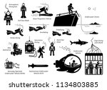 types of diving modes an... | Shutterstock .eps vector #1134803885