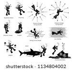risk  danger  and hazard of... | Shutterstock .eps vector #1134804002