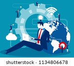 business person filled with... | Shutterstock .eps vector #1134806678