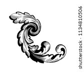 retro baroque decorations... | Shutterstock .eps vector #1134810506