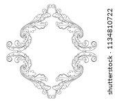 retro baroque decorations... | Shutterstock .eps vector #1134810722