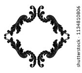 retro baroque decorations... | Shutterstock .eps vector #1134810806