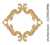 retro baroque decorations... | Shutterstock .eps vector #1134810986