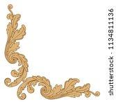 retro baroque decorations... | Shutterstock .eps vector #1134811136