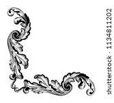 retro baroque decorations... | Shutterstock .eps vector #1134811202