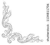 retro baroque decorations... | Shutterstock .eps vector #1134811706