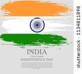 indian flag tri color based...   Shutterstock .eps vector #1134811898