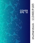 trendy cover page layout.... | Shutterstock .eps vector #1134819185