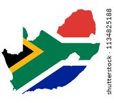 flag map of south_africa   Shutterstock .eps vector #1134825188