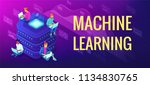 isometric machine learning... | Shutterstock .eps vector #1134830765