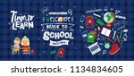 vector set of illustrations on... | Shutterstock .eps vector #1134834605