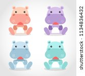 baby animal collection   vector ... | Shutterstock .eps vector #1134836432