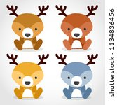baby animal collection   vector ... | Shutterstock .eps vector #1134836456