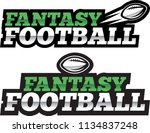 fantasy football logo | Shutterstock .eps vector #1134837248