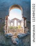 abandoned church through window ...   Shutterstock . vector #1134841322