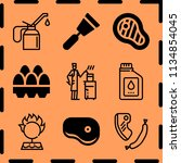 simple 9 icon set of cooking...   Shutterstock .eps vector #1134854045