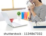 e commerce delivery concept and ... | Shutterstock . vector #1134867332