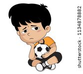 kid defeats in the competition... | Shutterstock .eps vector #1134878882