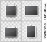 realistic blank photo frames... | Shutterstock .eps vector #1134886262