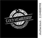 gold membership written with... | Shutterstock .eps vector #1134888998