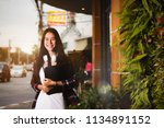 beautiful asia workingwoman... | Shutterstock . vector #1134891152