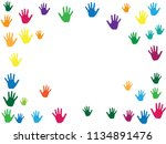 frame of hands  palms isolated...   Shutterstock .eps vector #1134891476