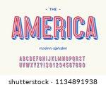 america modern alphabet 3d... | Shutterstock .eps vector #1134891938