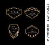 vintage art deco frame badge... | Shutterstock .eps vector #1134892616