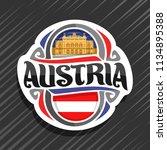 vector logo for austria country ... | Shutterstock .eps vector #1134895388
