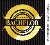 bachelor gold emblem   Shutterstock .eps vector #1134895592