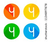 number four  numeral  simple...   Shutterstock .eps vector #1134897878