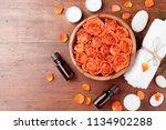 rose flower in bowl  essential...   Shutterstock . vector #1134902288