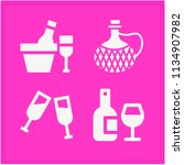 set of 4 food filled icons such ... | Shutterstock . vector #1134907982
