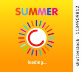 summer is loading  progress... | Shutterstock .eps vector #1134909812
