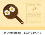 minimal flat design morning... | Shutterstock .eps vector #1134919748