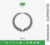 laurel wreath   elegant symbol | Shutterstock .eps vector #1134920726