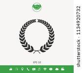 laurel wreath for yor design | Shutterstock .eps vector #1134920732