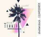 hello summer  modern poster... | Shutterstock .eps vector #1134920855