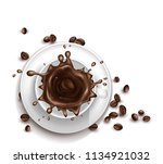 vector 3d realistic cup of... | Shutterstock .eps vector #1134921032
