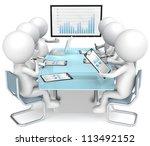 business meeting. 3d little... | Shutterstock . vector #113492152