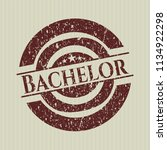 red bachelor distressed rubber... | Shutterstock .eps vector #1134922298