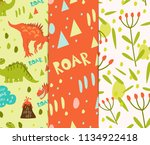set of seamless patterns.... | Shutterstock .eps vector #1134922418