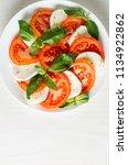 close up photo of caprese salad ... | Shutterstock . vector #1134922862