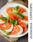 close up photo of caprese salad ... | Shutterstock . vector #1134922892